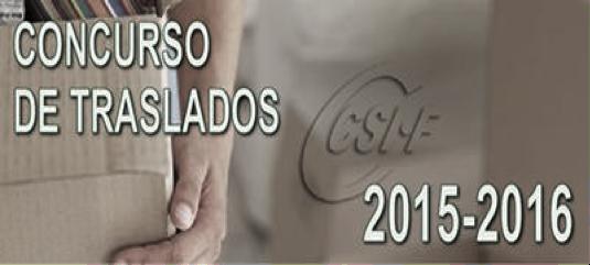 CONCURSO DE TRASLADOS 2015-16 ARAGÓN