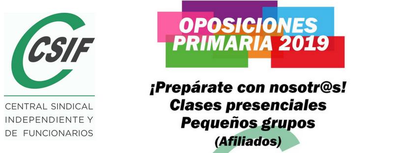 Oposiciones 2019 Primaria