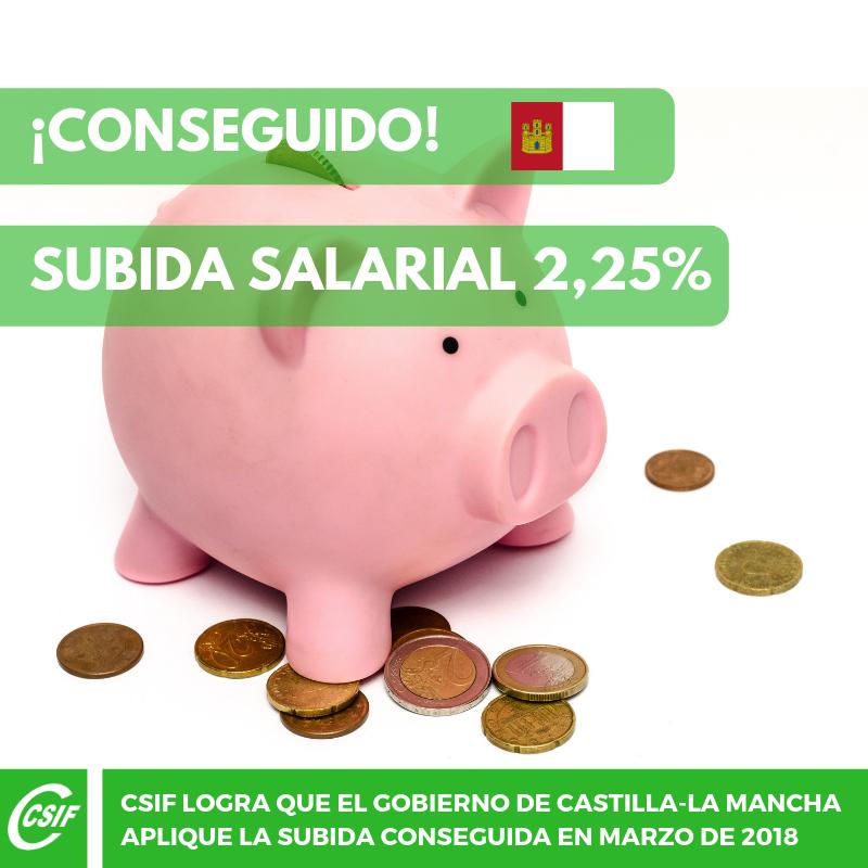 subida salarial 2,25%