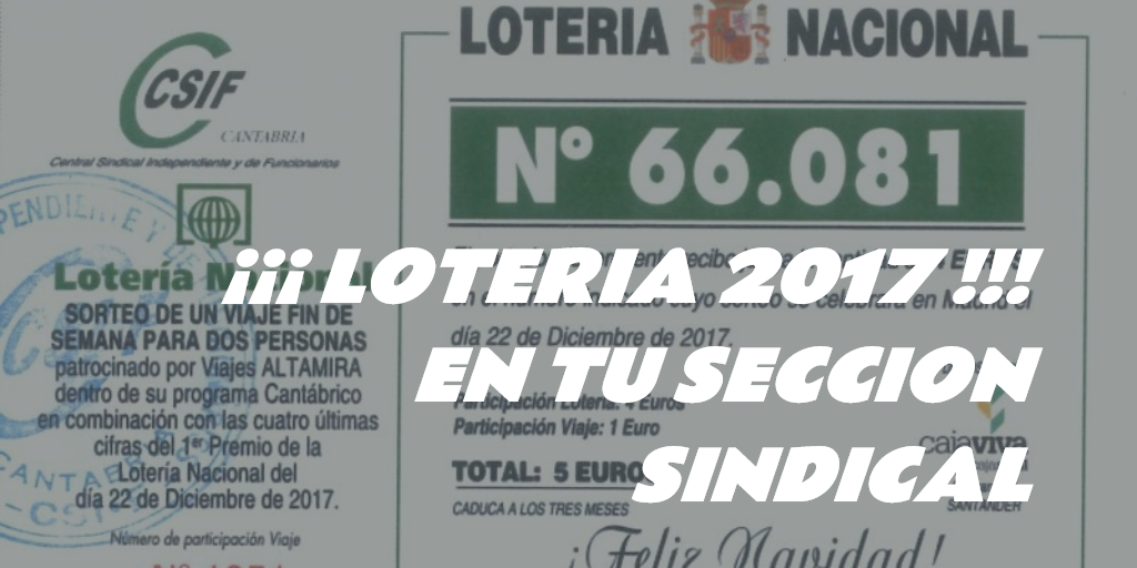 Loteria 2017 CSIF Cantabria