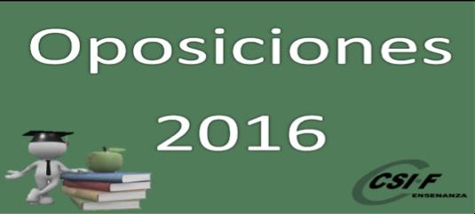 Oposiciones Docentes 2016