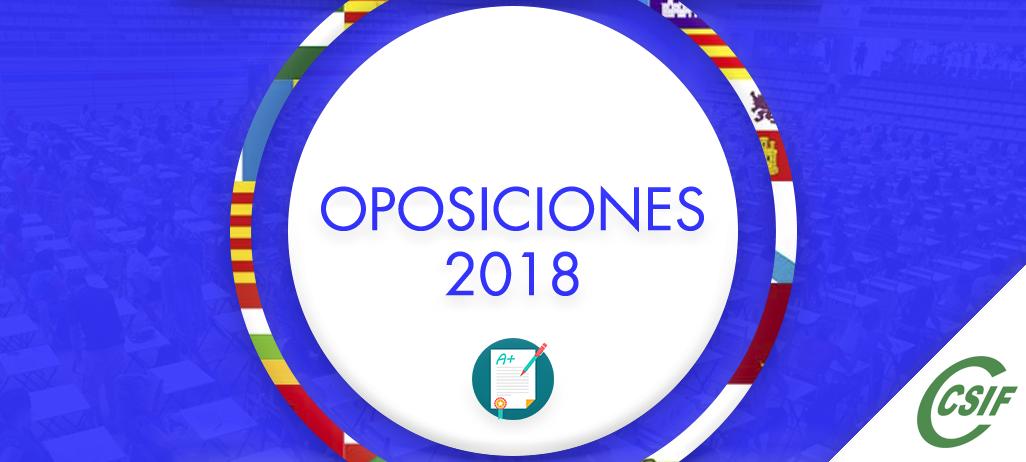 OPOSICIONES 2018 DIFERENTES CC.AA.