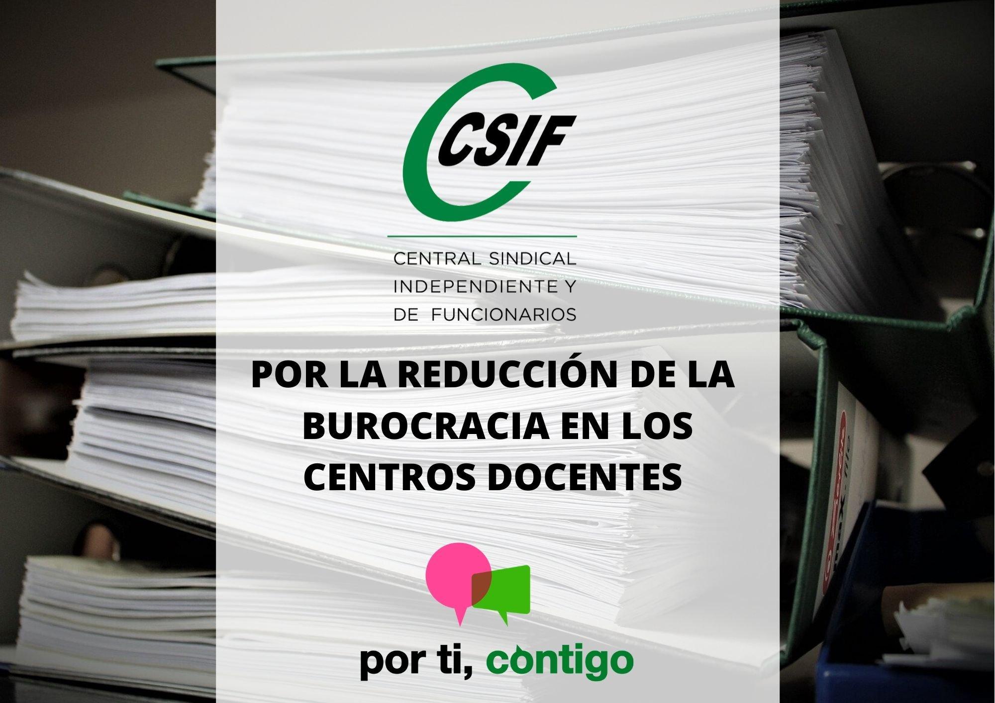 Por la reducción de la burocracia en los centros docentes CSIF Castilla-La Mancha