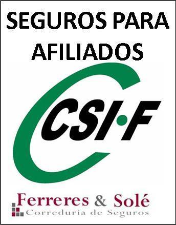 SEGUROS PARA AFILIADOS CSIF