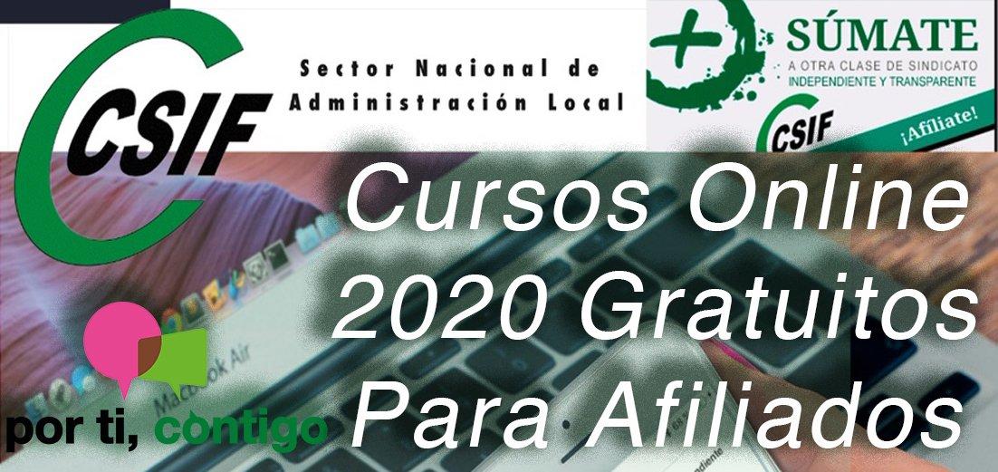 Cursos online CSIF 2020 gratuitos para afiliados