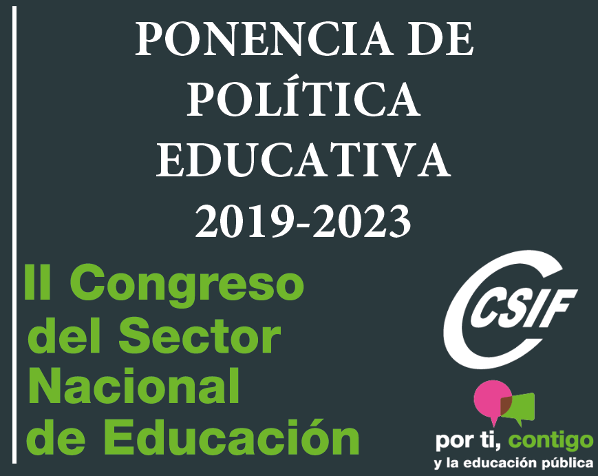 Ponencia de Política Educativa Noviembre 2019 CSIF Educación