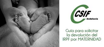 Banner IRPF maternidad | CSIF Andalucía