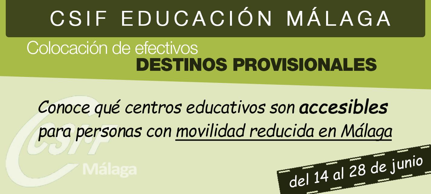 ¿Conoces qué centros son accesibles en la provincia de Málaga?