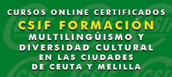 Curso Online de Multilingüismo y Diversidad Cultural en las Ciudades de Ceuta y Melilla