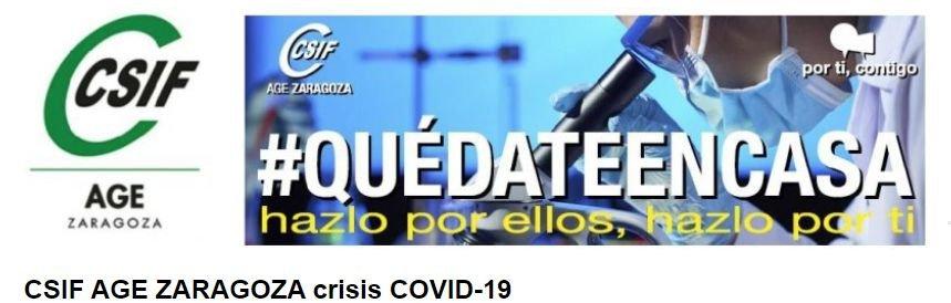 CSIF AGE ZARAGOZA crisis COVID-19