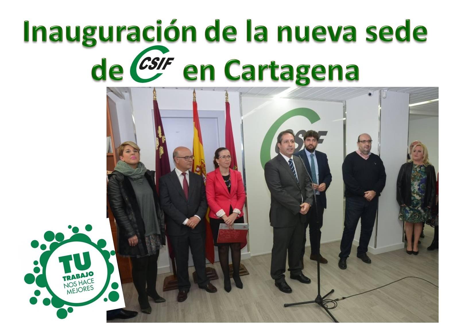CSIF inaugura su nueva sede en la ciudad de Cartagena