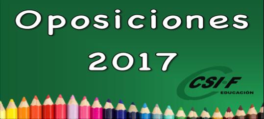 Oposiciones 2017 CSIF