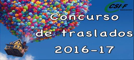 Concurso de traslados 2016-17 CSIF