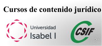 Cursos de contenido jurídico homologados por la Universidad Isabel I de Castilla