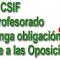 La presión de CSIF logra que el profesorado interino no tenga obligación de presentarse a oposiciones