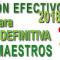 VACANTES INICIALES PARA LA ADJUDICACIÓN DEFINITIVA DE MAESTROS Curso 2018-2019
