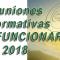 Reuniones Informativas NUEVOS FUNCIONARIOS 2018