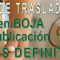 Anuncio en BOJA de la publicación de las Vacantes DEFINITIVAS del Concurso de Traslados 2018-2019