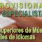 Resolución PROVISIONAL de PROFESORADO ESPECIALISTA Conservatorios Superiores de Música y Danza y EOI