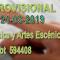 Resolución provisional Bolsa de Trabajo, especialidad de Fagot 594408 - Convocatoria del 21/03/2019