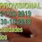 Resoluciones PROVISIONALES y DEFINITIVAS para el acceso extraordinario a bolsas de trabajo de las especialidades de los Cuerpos convocados por resolución de 30 de octubre de 2018 y 21 de marzo de 2019