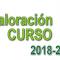 Encuesta - Valoración del Curso 2018-2019