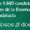 CSIF PRESENTA 1.693 CANDIDATOS A LAS ELECCIONES DE LA ENSEÑANZA PÚBLICA DE ANDALUCÍA.