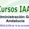 Cursos homologados del I.A.A.P. para personal de la Administración General de la Junta de Andalucía