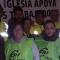 Muestras de apoyo a los trabajadores de Algesa, en el primer día de encierro