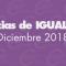 Igualdad | Noticias del mes: diciembre 2018