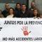 Miembros de la Unión Provincial de CSIF Cádiz, esta mañana, guardando un minuto de silencio en la sede del sindicato en Cádiz