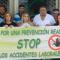 Momento de la concentración, este miércoles, a las puertas de CSIF Málaga