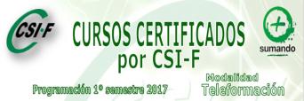 Cursos Certificados por CSIF – Programación 1º semestre 2017