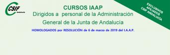 Cursos del IAAP para personal de la AGJA (2º. cuatrimestre 2019)