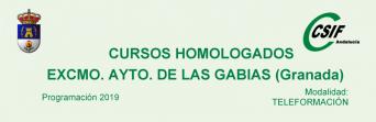 Cursos homologados por CSIF e impartidos por el Excmo. Ayto. de Las Gabias (Granada)