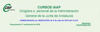 Cursos del IAAP para personal de la AGJA (3er. cuatrimestre 2019)