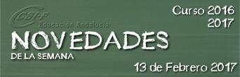 Andalucía - Novedades de la Semana 13/2/2017