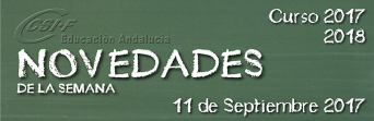 Andalucía - Novedades de la Semana 11/9/2017