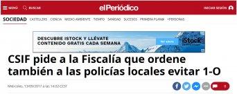 Recorte Prensa el Periódico - 13/09/2017