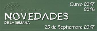 Andalucía - Novedades de la Semana 25/9/2017