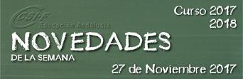 Andalucía - Novedades de la Semana 27/11/2017