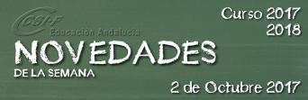 Andalucía - Novedades de la Semana 2/10/2017
