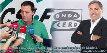 Entrevista CSIF en ONDA CERO.