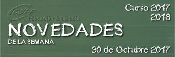 Andalucía - Novedades de la Semana 30/10/2017