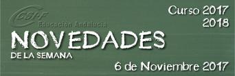 Andalucía - Novedades de la Semana 6/11/2017