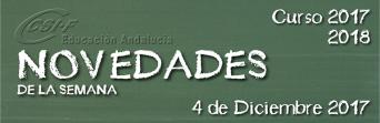 Andalucía - Novedades de la Semana 04/12/2017