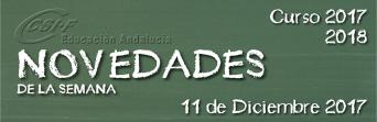 Andalucía - Novedades de la Semana 11/12/2017