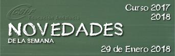 Andalucía - Novedades de la Semana 29/1/2018