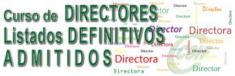 Listado DEFINITIVO del Curso para el desarrollo de la Función Directiva