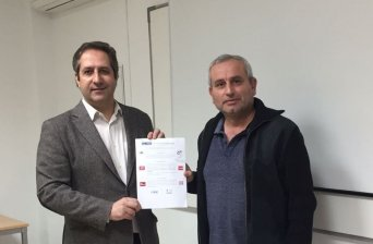 En la imagen, el presidente de la Unión Autonómica de CSIF en la Región, Juan Miguel López Blanco, junto al delegado de Aill-Pold en Murcia